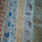 Sewing Fabric - Quilting Pieces  -6 each - prints, flowers, cheeries