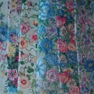 Sewing Fabric - Quilting Pieces  -7 each = flowers