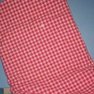 Sewing Fabric Cotton Small  checked Red and White pretty, No. 262