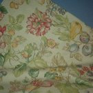 Sewing Fabric  No. 273 Beige with red flowers and leaves
