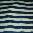 "Sewing Fabric No. 279 Drapery or upholstery Navy and white stripe 3/4"" wide"