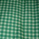 Sewing Fabric No. 287 Cotton Decorator Fabric Green checked