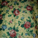 Sewing Fabric No. 284 Cotton Decorator Yellow with red roses, pretty.