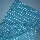 Sewing Fabric No. 290 Vintage Rayon light blue with white dots