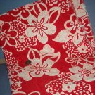 Sewing Fabric Cotton No 300 Red and white big flowers, Hawiian