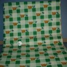 Sewing Fabric Cotton No 302 Kitten, butterfly on green and white check