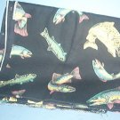"Sewing Fabric Cotton No 314 Beautiful fish about 2"" each"
