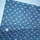 Sewing Fabric Cotton No 317 Small pink flowers on navy