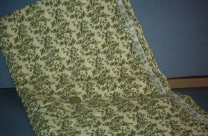 Sewing Fabric Cotton No 329 Pale green vine on beige