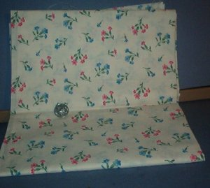 Sewing Fabric Cotton No 333 White with springs of flowers