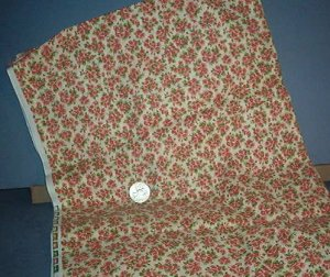 Sewing Fabric Cotton No 335 Bouquets for roses on beige