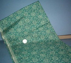 Sewing Fabric Cotton No 347 beige design on soft green
