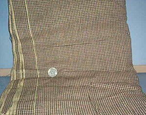 Sewing Fabric Cotton No 348 brown and black check 1/8""