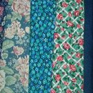 Sewing Fabric Cotton No 376 - 5 each - 30 in quilting lengths