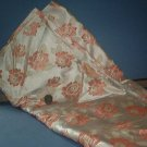 Sewing Fabric  No 350  - Soft peach and taupe satin with roses