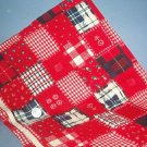 Sewing Fabric  No 359 - Corderoy Red Patchwork Sweet