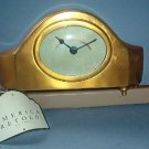 Christmas gift - Clock Hotel Astoria - 8 X 3 inches - Burnished Brass - Lovely