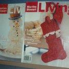 Magazine - Martha Stewart Living - Christmas - 85  & 45  December 2000 and 1997