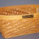 "Basket - Harry & David with handles - 5.5X8X12"" - Removable Brass Plate - Very Strong and Handsome"