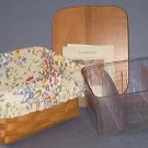 "Basket - Longeberger Card Index - 7X5.5X4"" with liner and protector.  Very Nice"