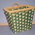 "Basket - Wall - Green and Beige - 5X7.5X5.5X7""  - Very sturdy."