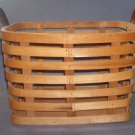 Basket -  Open sides with solid bottom - leather handles - 8X8X12 - Very Nice.