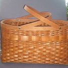 "Basket -  Beautiful, large, 8.5X16X9 - 15"" w/handles - One 1"" boo-boo that is easily fixed."