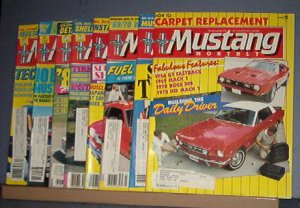 Magazine -Mustang Monthly  -January - April &  September - December, 1986
