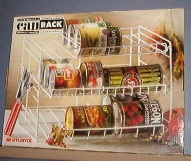 """Can Rack 14""""Wide, 10.5 high 10""""deep.Coated white steel long lasting -  New"""