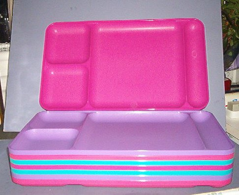 "Tupperwear - 8 ea serving trays - 15X9X1"" - 4 partitions- very sturdy - Like New"