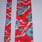 Neck Tie - Necktie - Burgundy w/ daisies -  Dear Prudence - 11/22/68 - The Beatles - Apple Corp