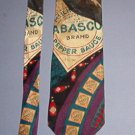 "Neck Tie - Necktie - Tabasco Brand Pepper Sauce - 4"" across - Like New"