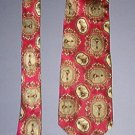 "Neck Tie - Necktie - Silk burgundy with beige design - Vito Rotolo - 3.5"" across - very nice"