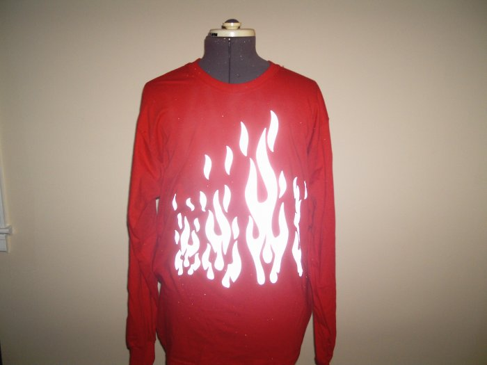 Reflective Flames T-Shirt