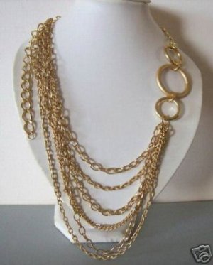 Modern gold chane necklace
