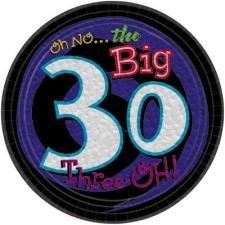 Oh No the Big 30 Dessert Plates
