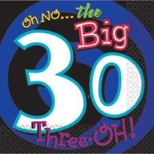 Oh No the Big 30 Beverage Napkins