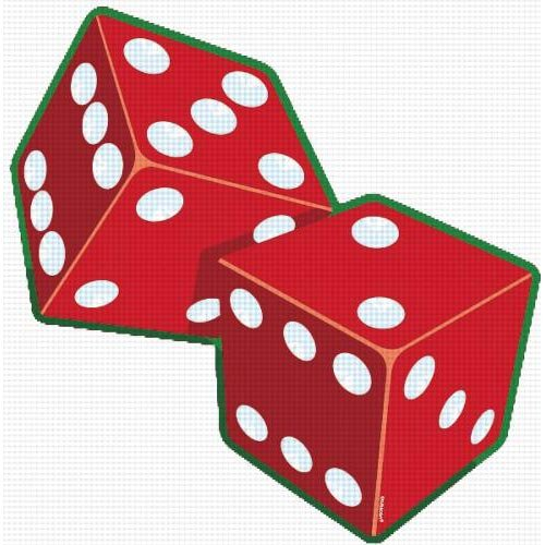 Casino Party Dice Cutout