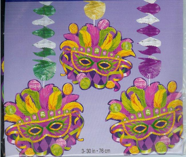 Mardi Gras Mask Danglers