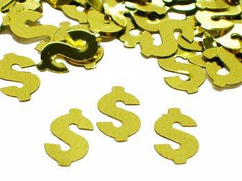 Gold Dollar Sign Confetti