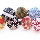 Work Week Button Ponytail Holder set of 7