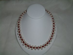 Pearl Ruby Necklace set RB796