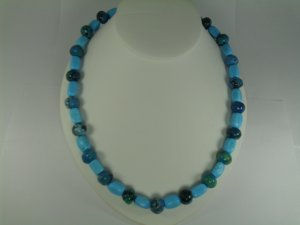 Turquoise & Treated Lapiz Lazuli Necklace set RB784