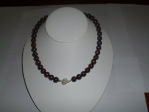 Chocolate Pearl Necklace RB 242
