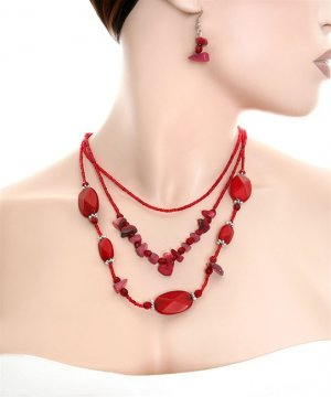 RB276 BEADS FASHION NECKLACE SET