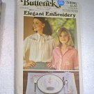 Elegant Embroidery Floral and Alphabet Patterns Butterick #5496 Uncut