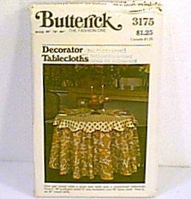 Decorator Tablecloths Butterick Pattern 3175 3 sizes Uncut