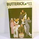 Costume Pattern Princess Bunny Witch Jester Clown Animal Butterick 3372 Size B Girls Cut
