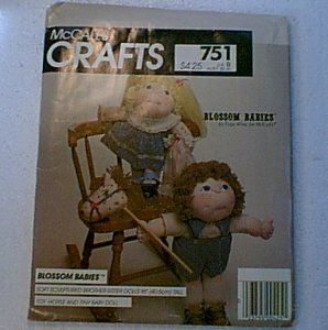 "Blossom Babies 16"" Doll Horse Tiny Doll Pattern McCalls 751 Uncut"