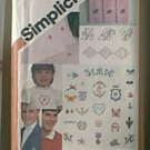 Embroidery Transfers 6 Alphabets 24 Motifs Simplicity Pattern 5171 1 pc Cut